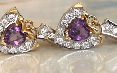 18 kt. Gold Earrings with approx 1.20 ct Diamonds and