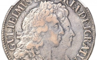 31584: William & Mary Crown 1692/Inverted 2 XF40 NGC, K
