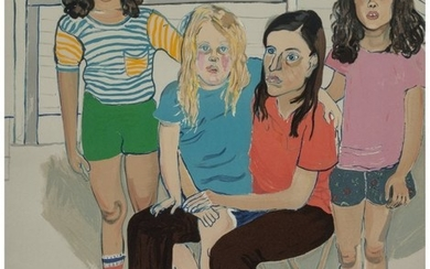 65084: Alice Neel (1900-1984) The Family, 1982 Lithogra