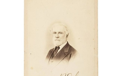 Robert E. Lee, Boldly Signed Cabinet Card Photograph by