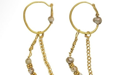Roman Gold and Beads Earrings