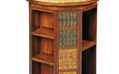 A GEORGE IV BRAZILIAN ROSEWOOD REVOLVING BOOKCASE, EARLY 19TH CENTURY