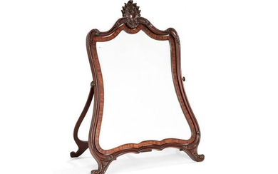 A Victorian carved mahogany easel dressing table mirror, late 19th century