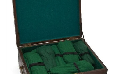 A boxed part-canteen of silver plated cutlery,...