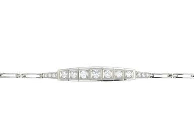 A brilliant-cut diamond bracelet.Estimated total
