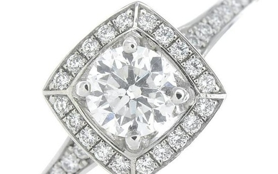 A brilliant-cut diamond cluster ring, by Furrer