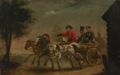 Artist Unknown - Untitled (Cart and riders)