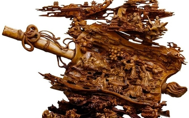 Asian Carved Wood Sculpture