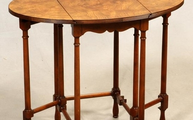 BAKER, WALNUT, GATE LEG SIDE TABLE