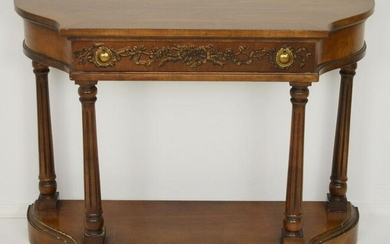 Brandt Decorated Console Table w 1 Drawer