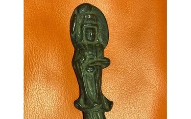 Bronze Buddha for private devotion. Smooth to the touch with...