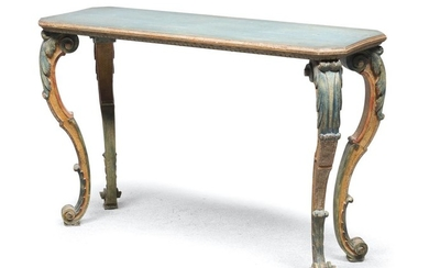 CENTER TABLE IN LACQUERED WOOD ELEMENTS OF THE 18TH CENTURY