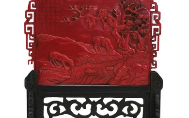 Chinese Carved Resin Plaque
