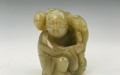 Chinese Green Jade Figure