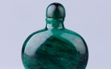 Chinese Green Jade Snuff Bottle