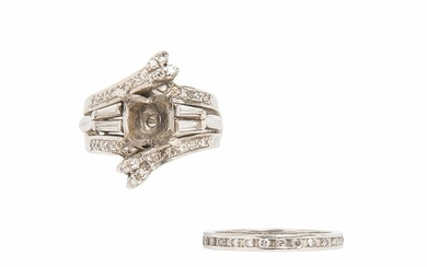 Diamond Ring Mount and Band