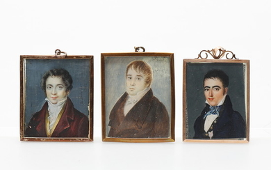 FRENCH SCHOOL, EARLY 19TH CENTURY AND SPANISH SCHOOL, CIRCA 1840. Male portraits.