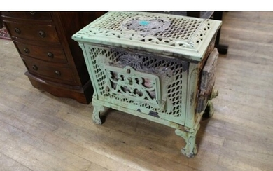 French Cast Iron and Enamel Stove