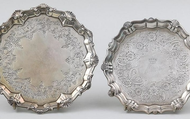 Group of (2) 18th century English sterling silver