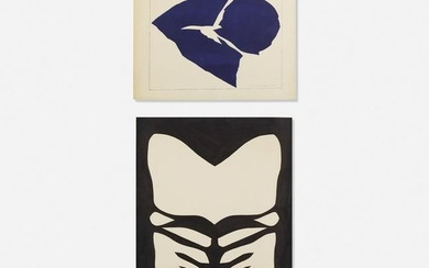 Jack Youngerman, Indigo White and Untitled (two works)