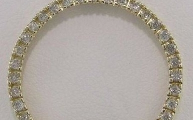 LADIES 14K YELLOW GOLD 1/2ct ROUND DIAMOND ETERNITY