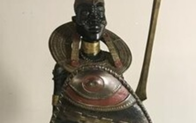 Large African Bronze Sculpture of Figure