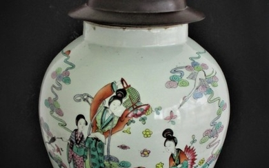 Large Chinese Covered Vase or Jar FR3SH