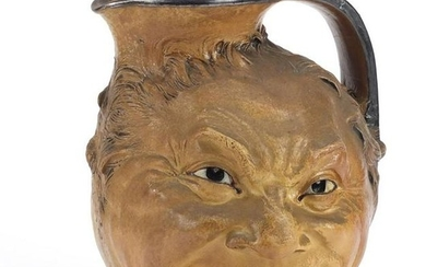 Large Martin Brothers stoneware double face jug