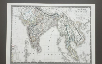 Lot of 5 Maps of India, 1606-1821