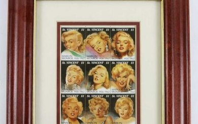 MARIYLN MONROE CERTIFIED POSTAGE STAMP COLLECTION