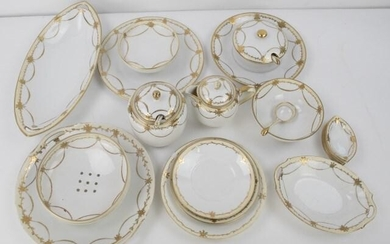 Matching Set of Hand Painted Nippon Serving Pcs.