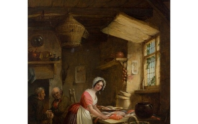 NICHOLAS CONDY (BRITISH 1793-1857) PREPARING FISH
