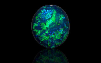 """""""Nobby"""" Opal with Blue Green"""