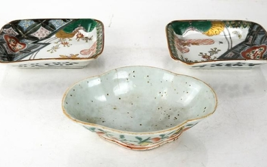 Pair Asian Porcelain Bowls, & Another