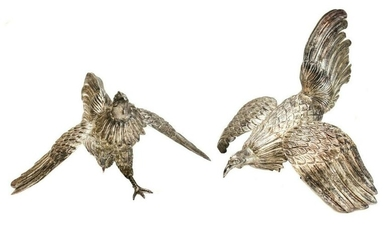 Pair Los Ballesteros Sterling Silver Bird Figurines