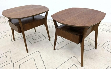 Pair Singer and Sons Side End Tables. Attributed to Gi