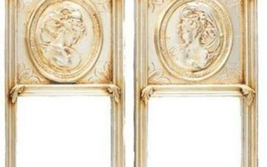 Pair of French Empire-Style Trumeau Mirrors