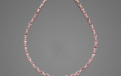 Pink Spinel and Diamond Necklace