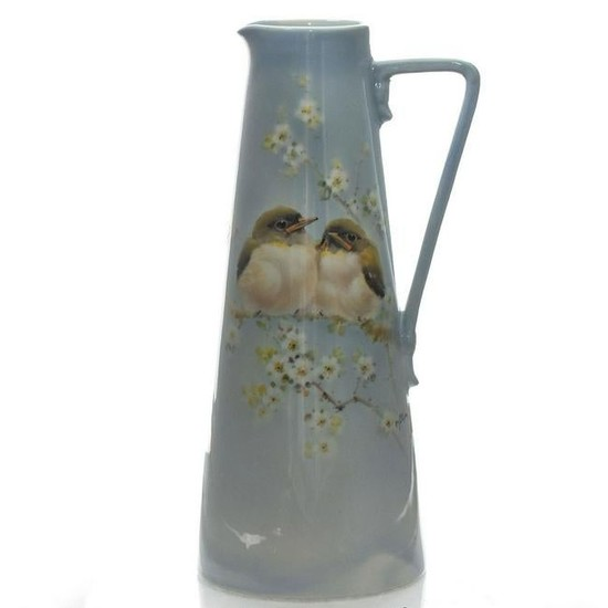ROYAL DOULTON TITANIAN PITCHER, YOUNG WARBLERS