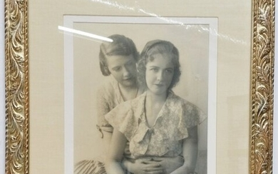 Signed Two Women Black and White Photograph