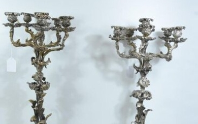 Silver plated metal trim with a 19th century...