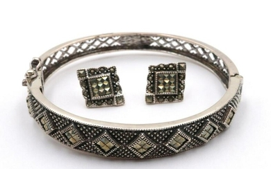Sterling Silver & Marcasite Suite