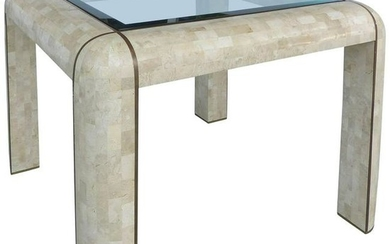 Tessellated Stone and Brass Inlay Dining/Game Table
