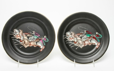 The Adams Etruscan Ware Black Glazed Plates, 2