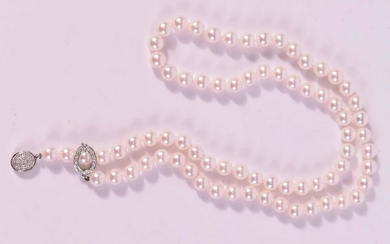 Tiffany Iridesse Cultured Pearl Diamond Lariat