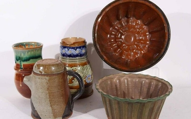 Two Redware and Terracotta Molds