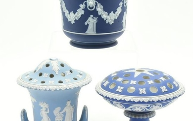 Two Wedgwood Bough Pots and a Vessel.