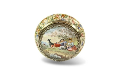 Viennese and Silver Gilt Snuff Box