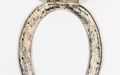 White-painted Wrought Iron Horseshoe/Farrier Trade Sign