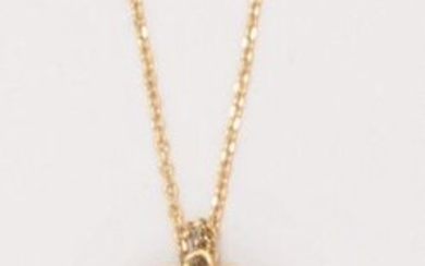 Yellow gold chain and pendant, set with a...